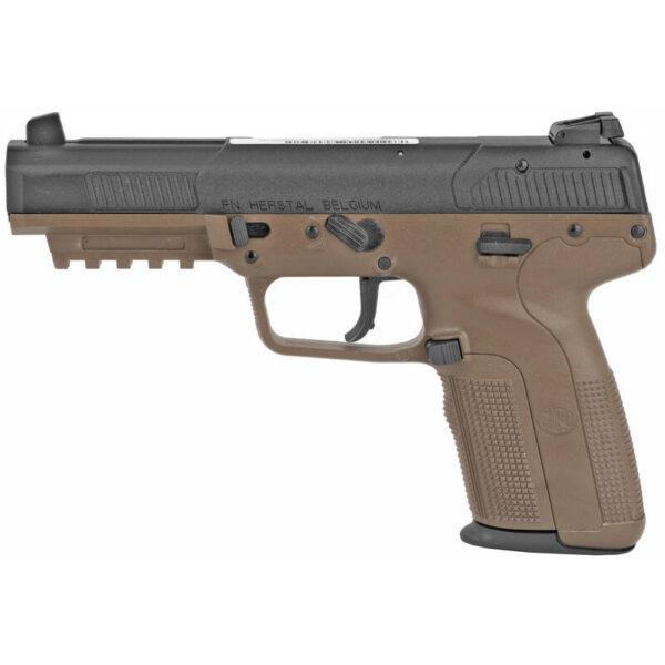 "FNH USA FN Five-Seven 5.7x28mm Semi Auto Pistol 4.8"" Barrel 20 Rounds Adjustable Sights Polymer Frame Flat Dark Earth"