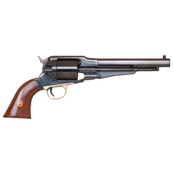 """Cimarron 1858 New Model Army .38 Special Revolver 6 Rounds 7.375"""" Barrel Fixed Sights Walnut Grips Blued CA1010"""