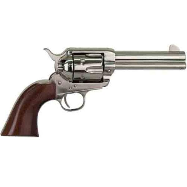 "Cimarron Pistolero .45 LC Single Action Revolver 6 Rounds 4.75"" Barrel Pre-War Frame Walnut Grips Pre-War Nickel Finish"