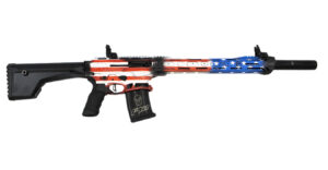 Typhoon Defense F12 Sport 12 Gauge Semi-Automatic Shotgun with American Flag Finish