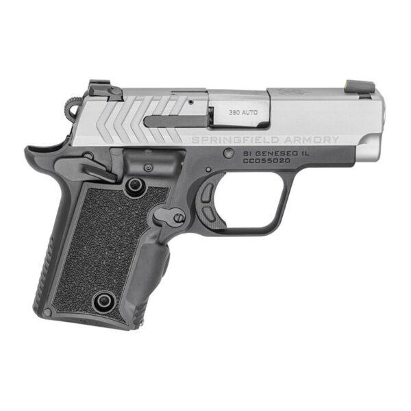 "Springfield Armory 911 .380 ACP Semi Auto Pistol 2.7"" Barrel 7 Rounds Bitone Finish G10 Viridian Green Laser Grips"