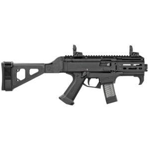 "CZ-USA Scorpion EVO 3 S2 Micro 9mm Luger Semi Auto Pistol 4.12"" Barrel 20 Rounds SB Tactical Folding Pistol Brace Matte Black"