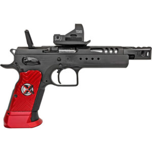 """EAA Witness Domina Xtreme 9mm Luger Semi Auto Pistol 5.25"""" Barrel 17 Rounds Hand Tuned Race Gun with Optic Steel Frame Aluminum Grips Two Tone Finish"""