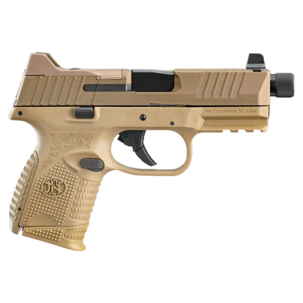 """FNH FN-509 Compact Tactical 9mm Luger Semi Auto Pistol 4.32"""" Threaded Barrel 24 Rounds Ambidextrous Controls Polymer Frame Flat Dark Earth"""