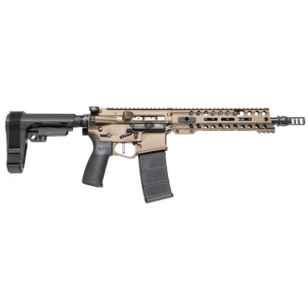 "POF USA Renegade Plus .300 AAC Blackout Semi Auto Pistol 10.5"" Barrel 30 Rounds Direct Gas Impingement System M-LOK Free Float Rail SB Tactical Arm Brace Burnt Bronze Finish"