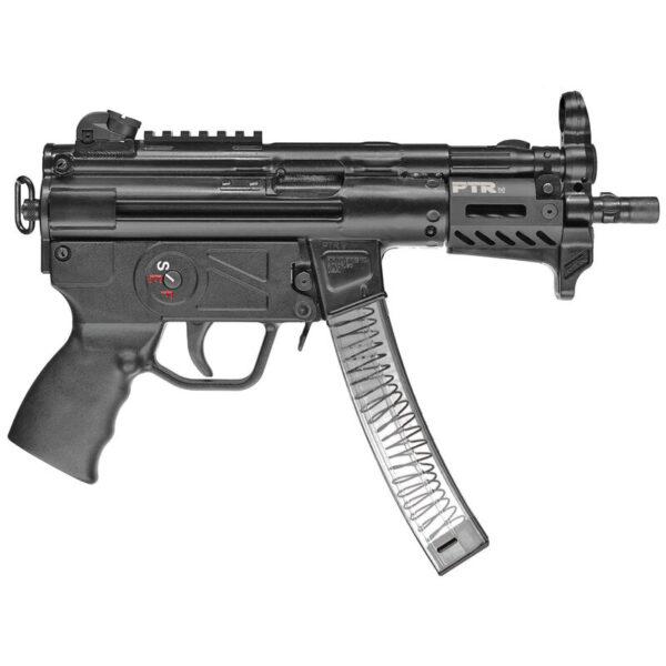 "PTR 9KT 9mm Luger Semi Auto Pistol 5.16"" Threaded Barrel 30 Rounds Aluminum M-LOK Handguard Aluminum End Cap with Sling Swivel Black Finish"