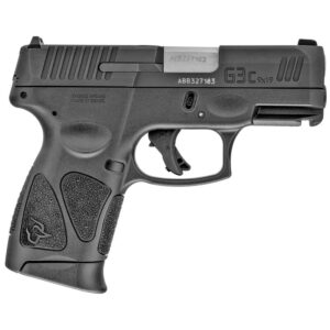 """Taurus G3c 9mm Luger Semi Auto Pistol 3.20"""" Barrel 12 Rounds Fixed Sights manual Safety Polymer Frame Matte Black Finish"""