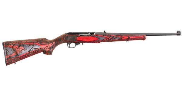 Ruger 10/22 22LR Red/Black Laminate Wild Hog