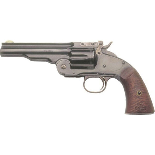 "Cimarron Model No.3 Schofield .38 Special Single Action Revolver 5"" Barrel 6 Rounds Walnut Grips Blued Finish"
