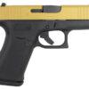 Glock 43x 9mm Single Stack Pistol with Cerakote Gold Slide