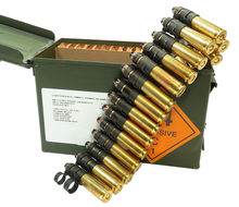 BLANK 50 BMG Ammo, Star Crimp, Lake City 100 Rounds Linked